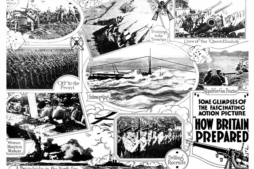 "WW1 British Propaganda Poster ""How Britain Prepared"" Digital Download"