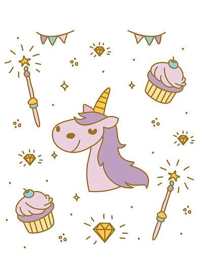 Magic Party Unicorn Printable Digital Files: SVG, PNG, DXF, AI, EPS, JPEG