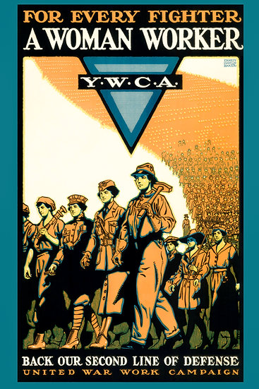 """WW1 US YWCA Propaganda Poster """"For Every Fighter Woman Worker"""" Digital Download"""