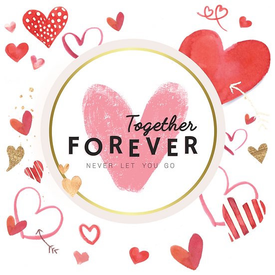 Together Forever - Valentine's Day PNG Transparent Image - Instant Download
