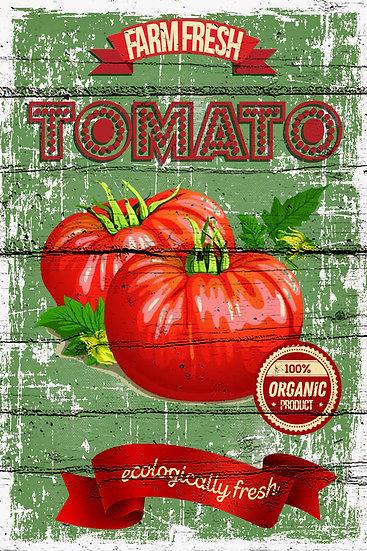 """Modern Farmhouse Poster """"Farm Fresh Tomato"""", Farmhouse Kitchen Digital Download"""