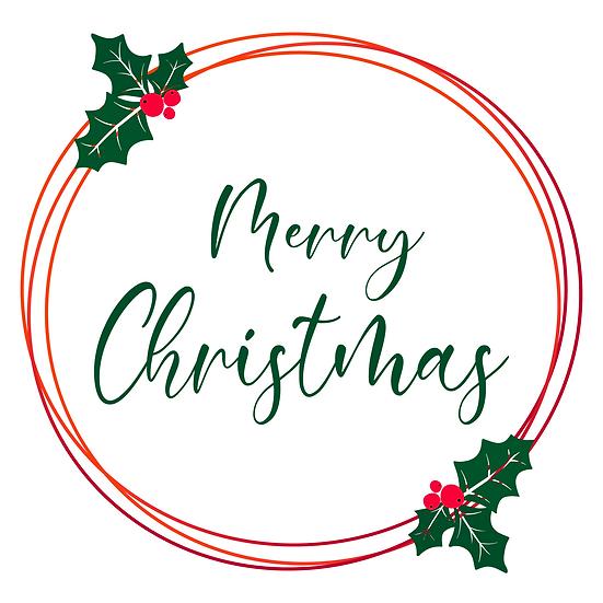 Merry Christmas Transparent Frame – Christmas Frame PNG, Digital Downloads