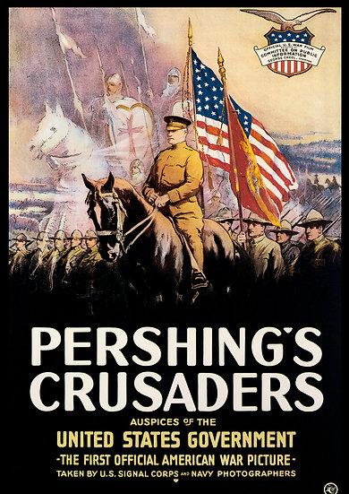 """WW1 American Propaganda Poster """"Pershings Crusaders"""" Digital Download"""