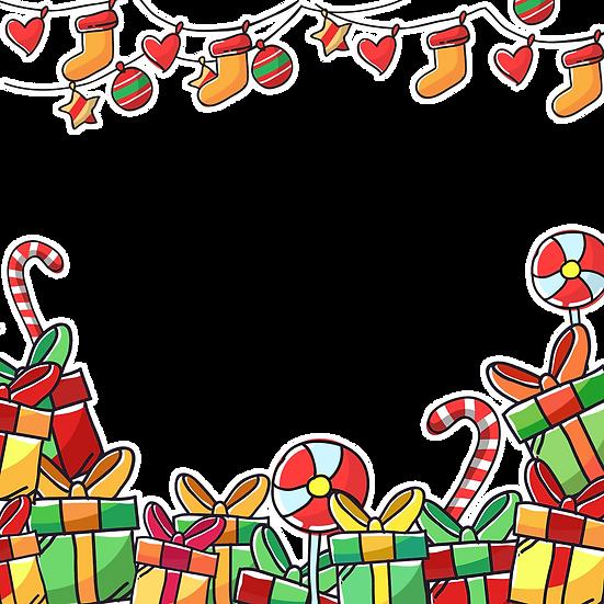 Lovely Christmas Frame – Digital Download, Christmas Frame PNG