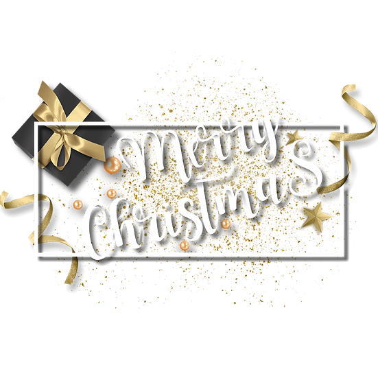 Merry Christmas Holiday Card – Transparent Background, Cheap Digital Download