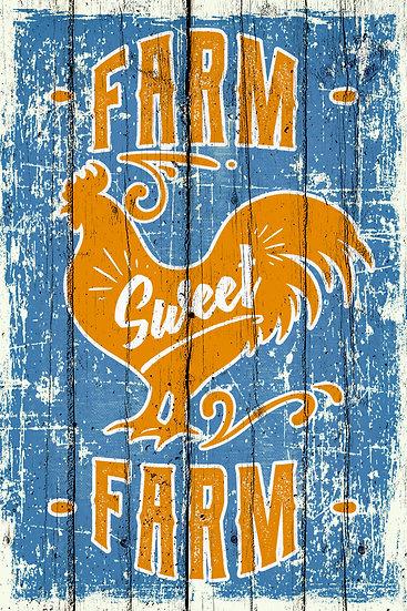 "Printable Farmhouse Poster ""Farm Sweet Farm"", Home Wall Decor Digital Download"