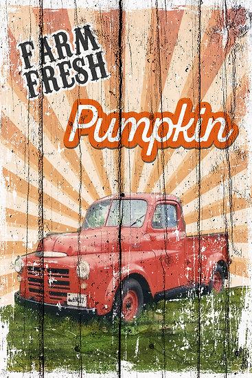 "Rustic Farmhouse Poster ""Farm Fresh Pumpkin"", Farmhouse Decor Digital Download"