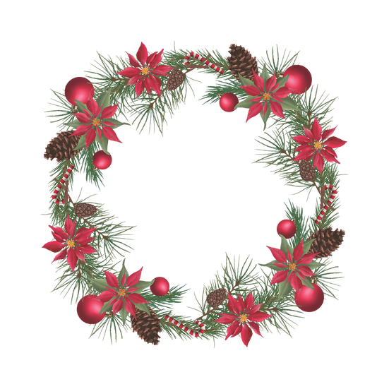 Awesome Christmas Wreath – Christmas Frame PNG, Cheap Digital Download
