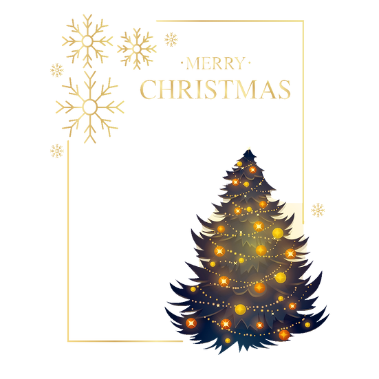 Frame with Christmas Tree – Christmas Frame PNG, Cheap Digital Download