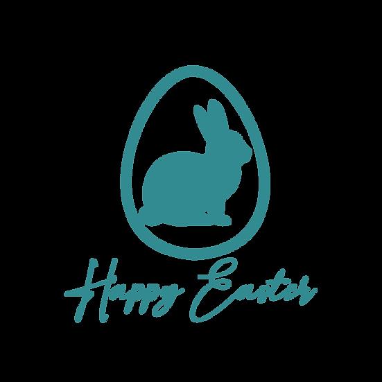 Happy Easter Rabbit Clipart - Easter PNG Transparent Image - Instant Download