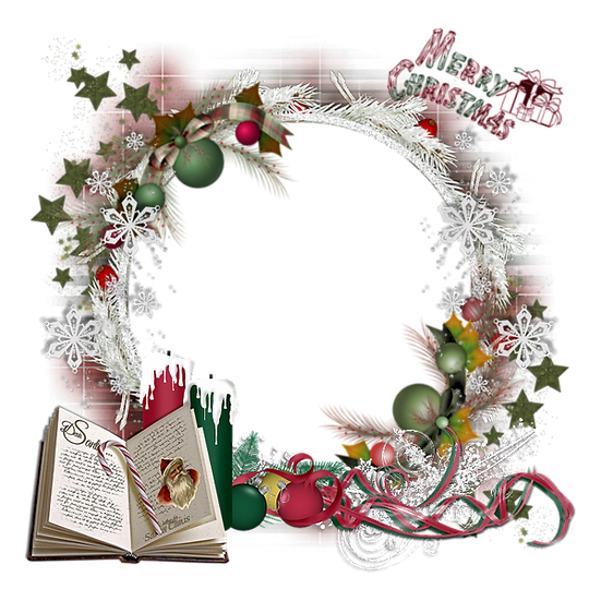 Merry Christmas Frame - Transparent Background, Christmas Frame PNG