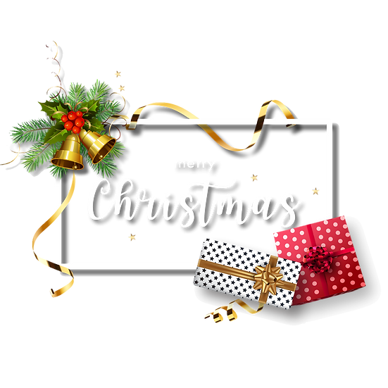 Christmas Holiday Greeting Card – Transparent Background, Digital Download