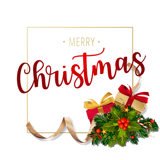 Merry Christmas Frame with Gifts – Digital Downloads, Christmas Frame PNG