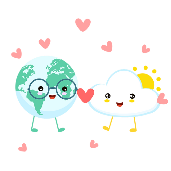 Earth and Cloud - Valentine's Day PNG Transparent Image - Instant Download