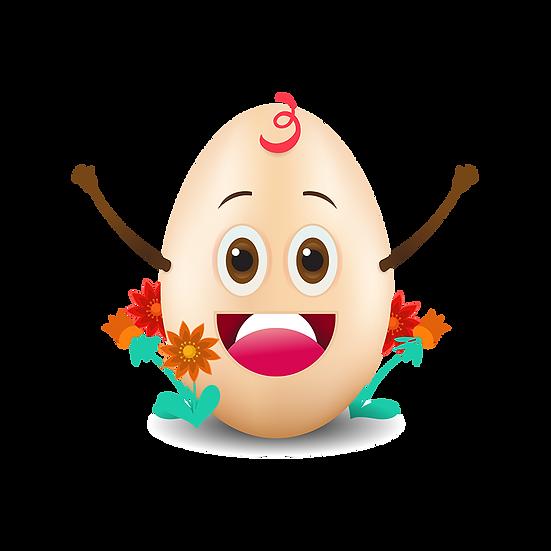 Funny Easter Egg Clipart - Easter PNG Transparent Image - Instant Download