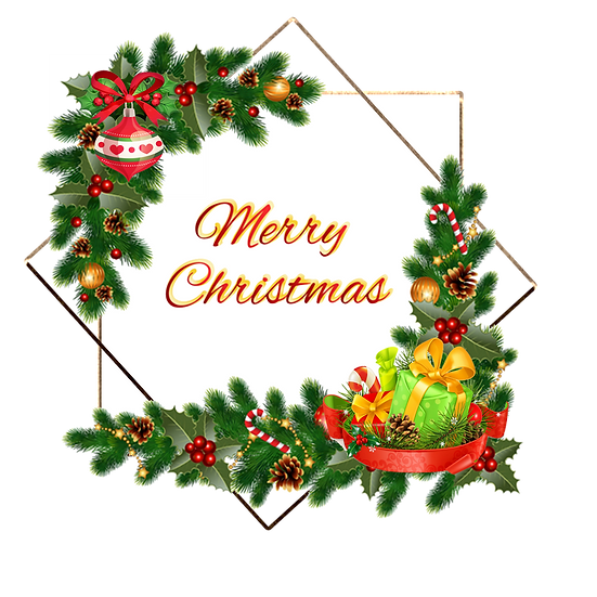 Magnificent Christmas Greeting Card - Transparent Background, Digital Download