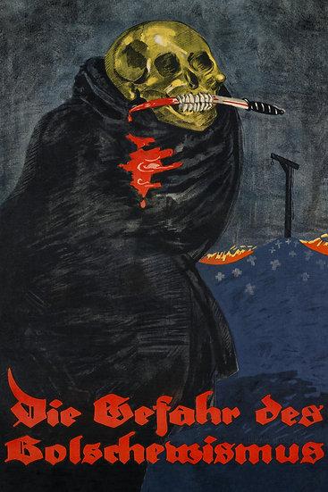 WW1 German Bolshevik Revolution Propaganda Poster (Replica) Digital Download