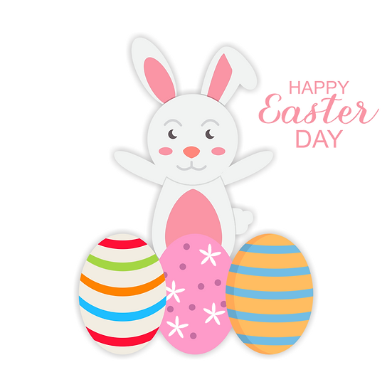 Happy Easter Amusing Clipart - Easter PNG Transparent Image - Instant Download