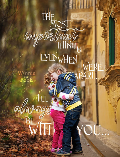 """Winnie the Pooh Quote Wall Decor """"I'll Always Be with You"""" Digital Download"""