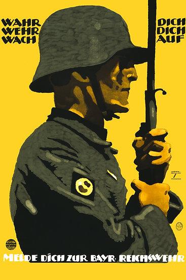 WW1 German Reichswehr Soldier Propaganda Poster Digital Download