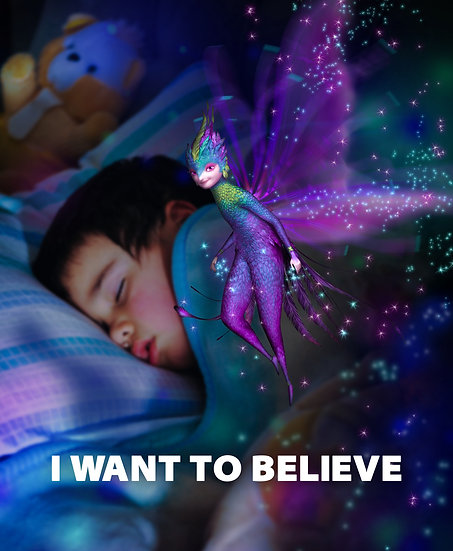 I Want To Believe Print, Tooth Fairy, Tooth Fairy Wall Art Digital Download