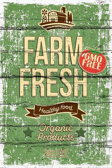 "Farmhouse Decor ""Farm Fresh Healthy Food"" Farmhouse Kitchen Digital Download"