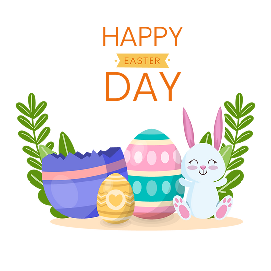 Happy Easter Fantastic Greeting Card - PNG Transparent Image - Instant Download