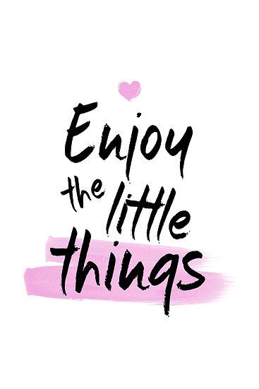 "Motivational Poster ""Enjoy the Little Things"" Digital Download, Inspiring Art"