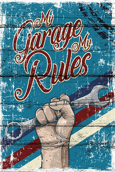 "Farmhouse Wall Decor ""My Garage My Rules"", Garage Poster Digital Download"