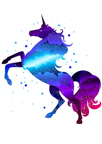 Amazing Unicorn Printable Digital Files: SVG, PNG, DXF, AI, EPS, JPEG