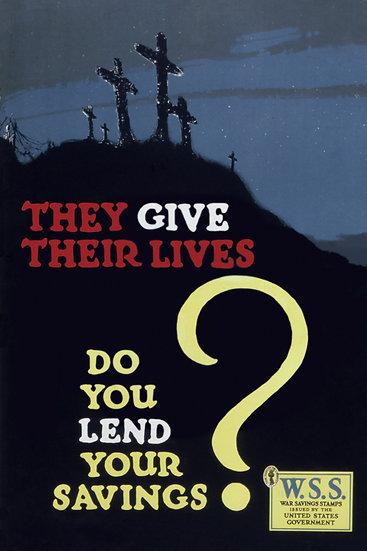 WW1 American War Savings Stamps Propaganda Poster Digital Download