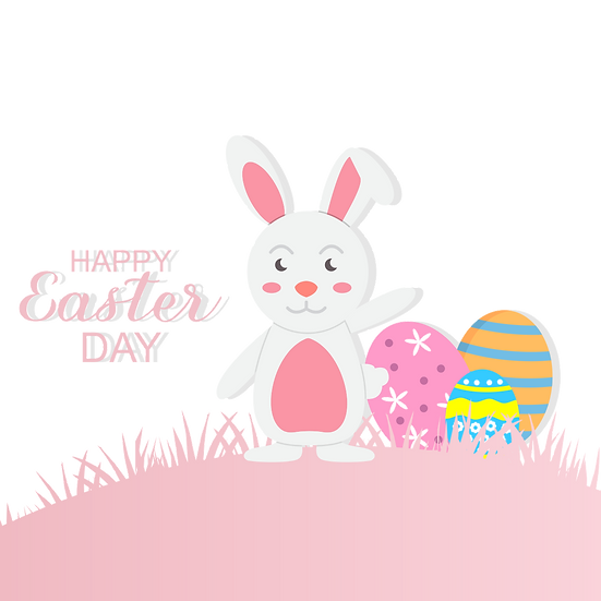 Happy Easter Cute Greeting Card - Easter PNG Transparent Image, Instant Download