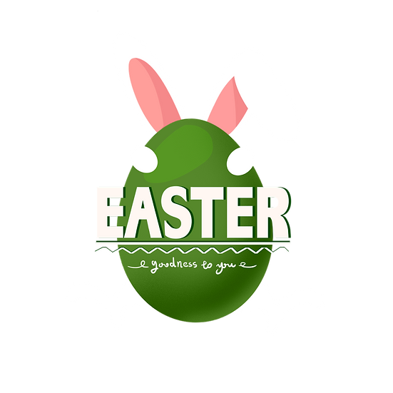 Easter Goodness For You Clipart - PNG Transparent Image - Instant Download