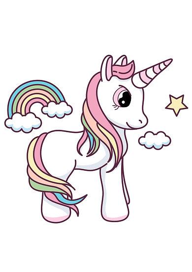 Charming Unicorn Printable Digital Files: SVG, PNG, DXF, AI, EPS, JPEG