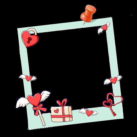 Valentine's Day Frame - PNG Transparent Image - Instant Download