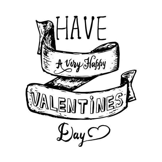Have A Very Happy Valentines Day - PNG Transparent Image - Instant Download