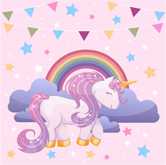 Party Unicorn Printable Digital Files: SVG, PNG, DXF, AI, EPS, JPEG