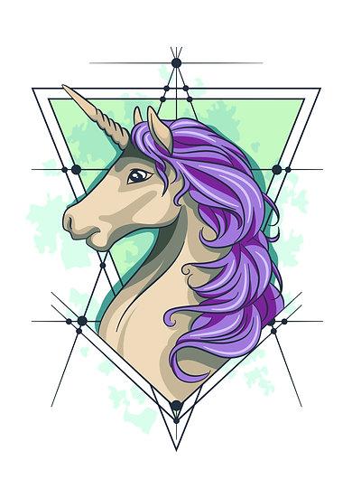 Awesome Unicorn Printable Digital Files: SVG, PNG, DXF, AI, EPS, JPEG