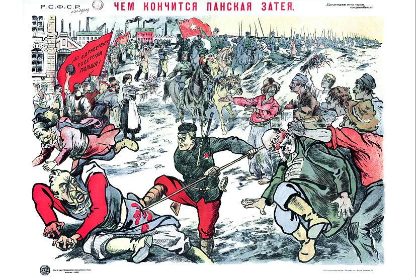 Westward Offensive Poster, Soviet Propaganda Poster Digital Download
