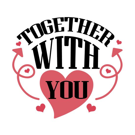 Together With You Clipart - Valentine's Day Transparent Image - Instant Download