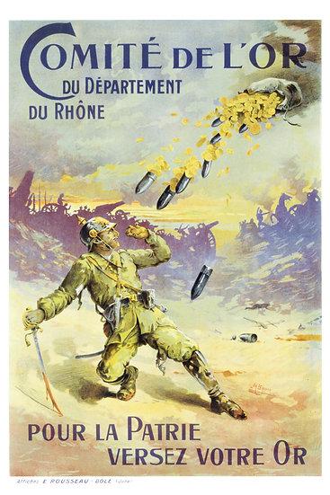 """WW1 French Propaganda """"Comité de L'Or du Département du Rhöne"""" Digital Download"""