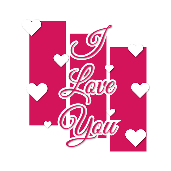 I Love You Greeting Card - Valentine's Day Transparent Image - Instant Download