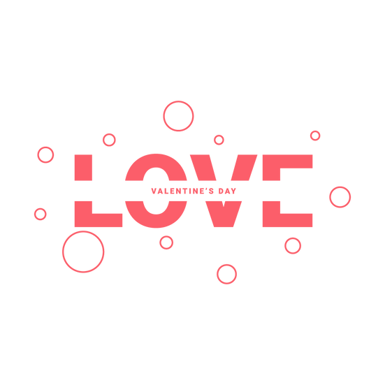 Love Valentine's Day Clipart - PNG Transparent Image - Instant Download