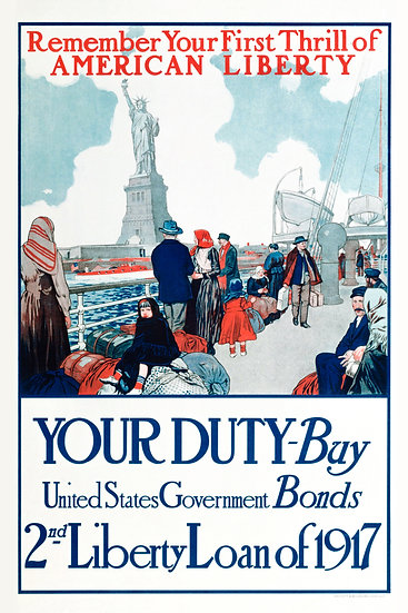 WW1 American Propaganda Poster 2nd Liberty Loan of 1917 Digital Download
