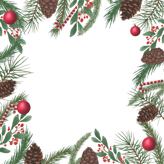 Incredible Christmas Frame with Pine Cones – Digital Download, Digital Poster