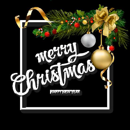 Fabulous Merry Christmas Frame – Transparent Background, Christmas Frame PNG