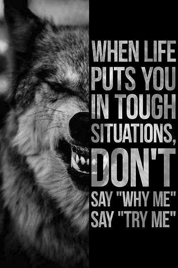 """Inspirational Poster """"Don't Say Why Me, Say Try Me"""" Digital Download, Gym Decor"""