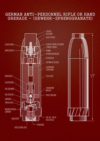 WW2 Gewehr-Sprenggranate Patent Print Digital Download