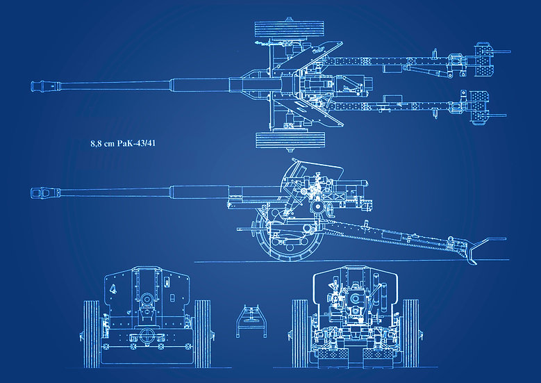 WW2 8.8 cm Pak 43/41 Patent Print Digital Download