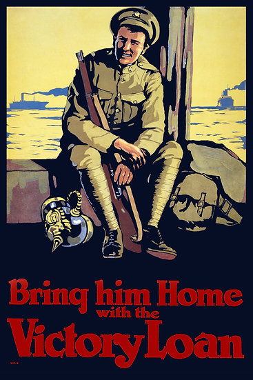 """WW1 Canadian Propaganda """"Bring Him Home with the Victory Loan"""" Digital Download"""